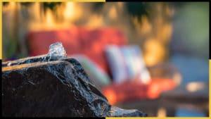 A rock bubbling fountain